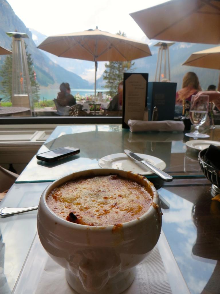 French Onion Soup Lakeview Lounge Fairmont Chateau Lake Louise