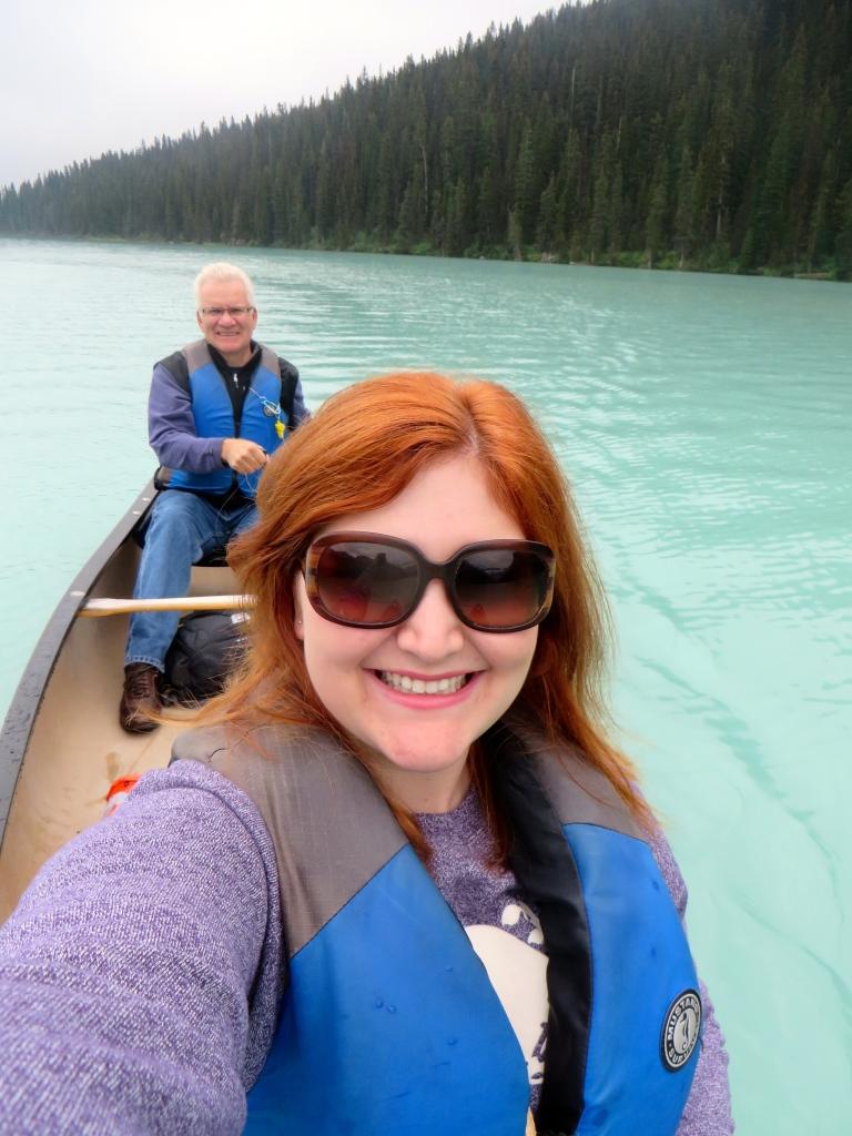 Canoeing on Lake Louise