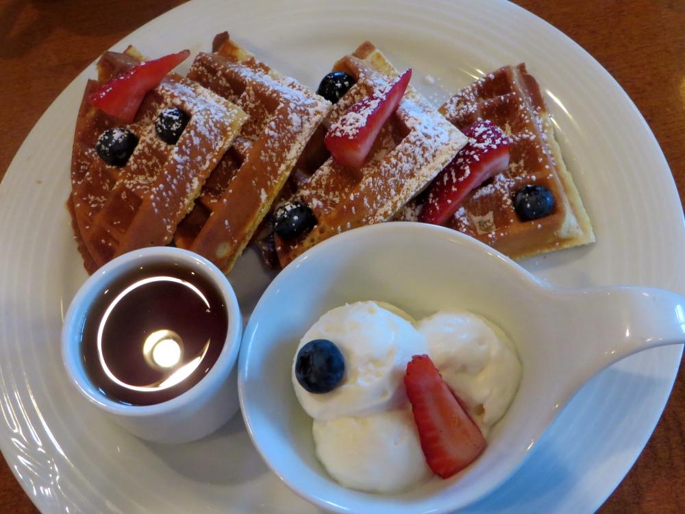 Waffles at Poppy Brasserie