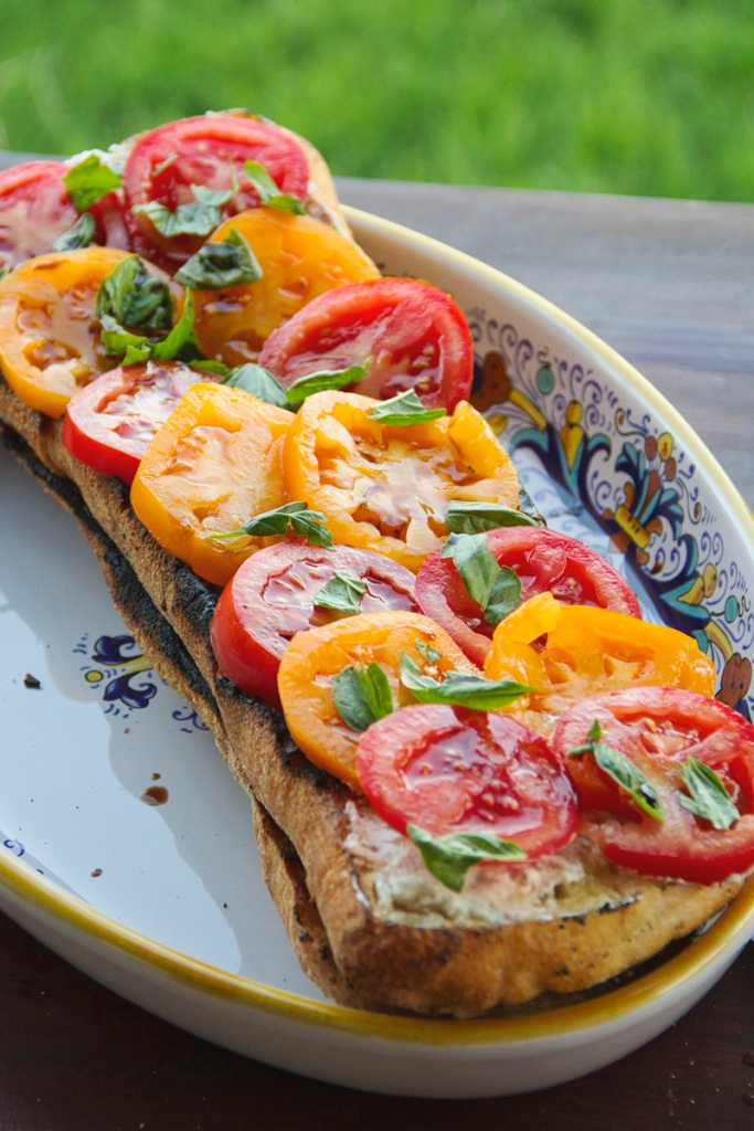 Heirloom Tomato Bruschetta Recipe | The Rose Table