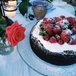 Chocolate Cheesecake with Almond Whipped Cream | The Rose Table