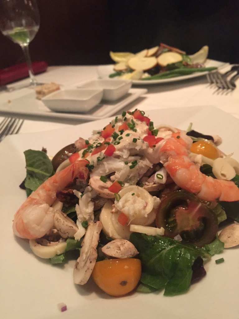 Eddie V's Review: Shrimp and Crab Chopped Salad | The Rose Table