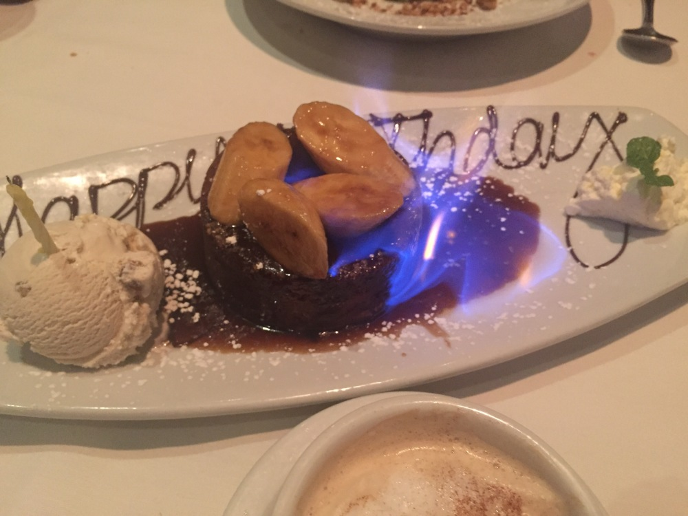 Eddie V's Review: Bananas foster butter cake | The Rose Table