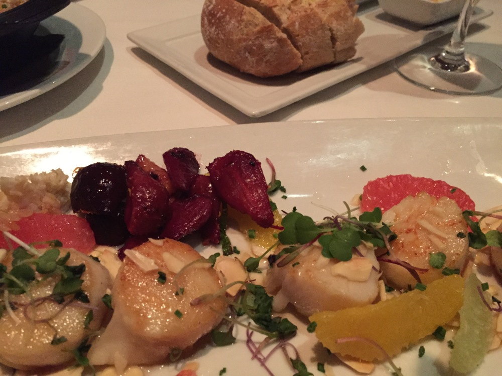 Eddie V's Review: Georges Bank Scallops | The Rose Table