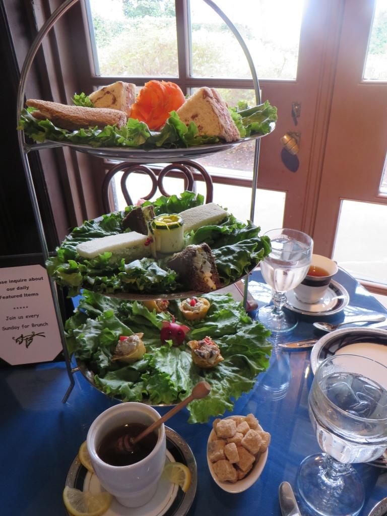 Tea Sandwiches at Dallas Arboretum   The Rose Table