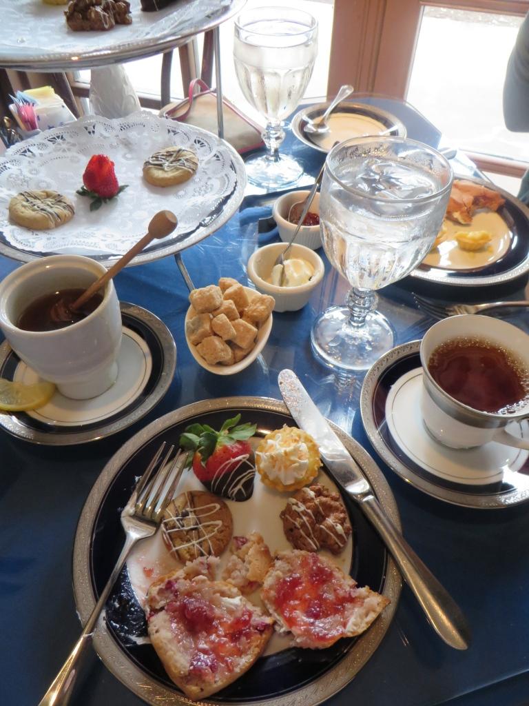 Tea Desserts at Dallas Arboretum   The Rose Table