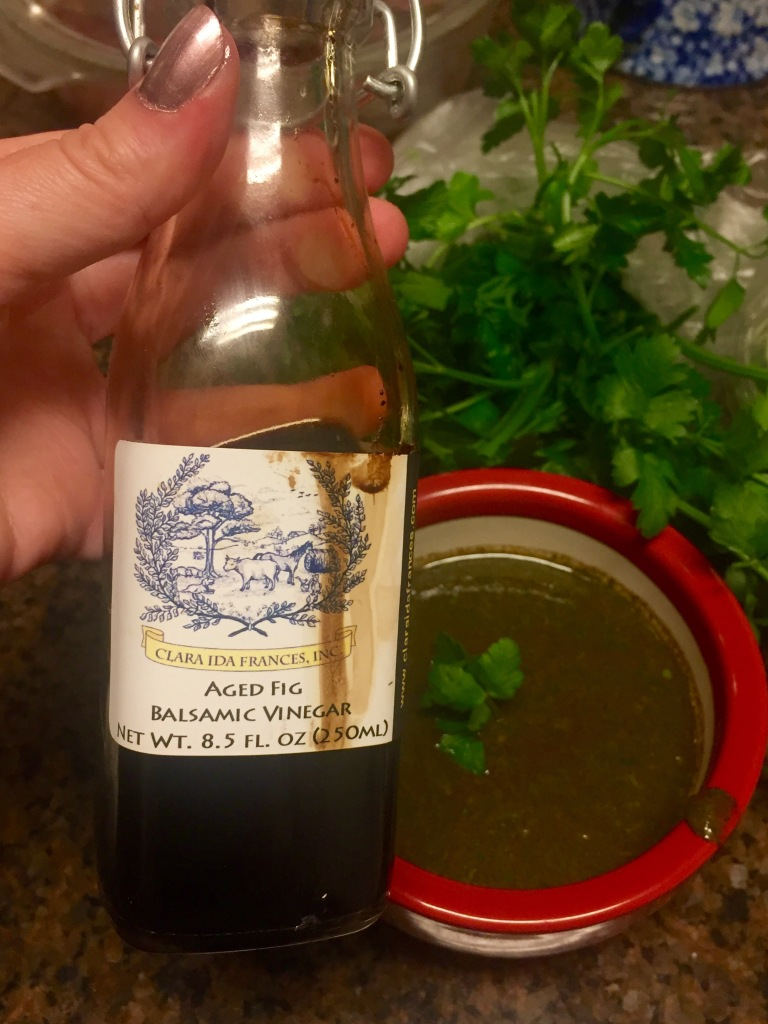 Aged Fig Balsamic Chimichurri Sauce | The Rose Table