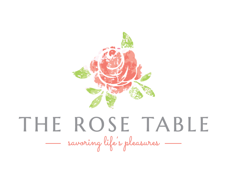 The Rose Table Logo Savoring Life's Pleasures
