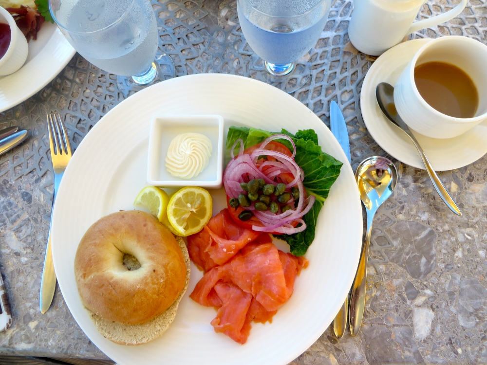 Smoked Salmon Bagel at Asu on the Beach at Alexandra Resort | The Rose Table