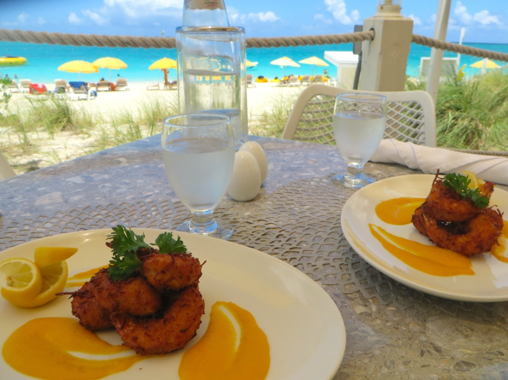 Coconut Shrimp with Ginger Pumpkin Sauce at Asu on the Beach | The Rose Table