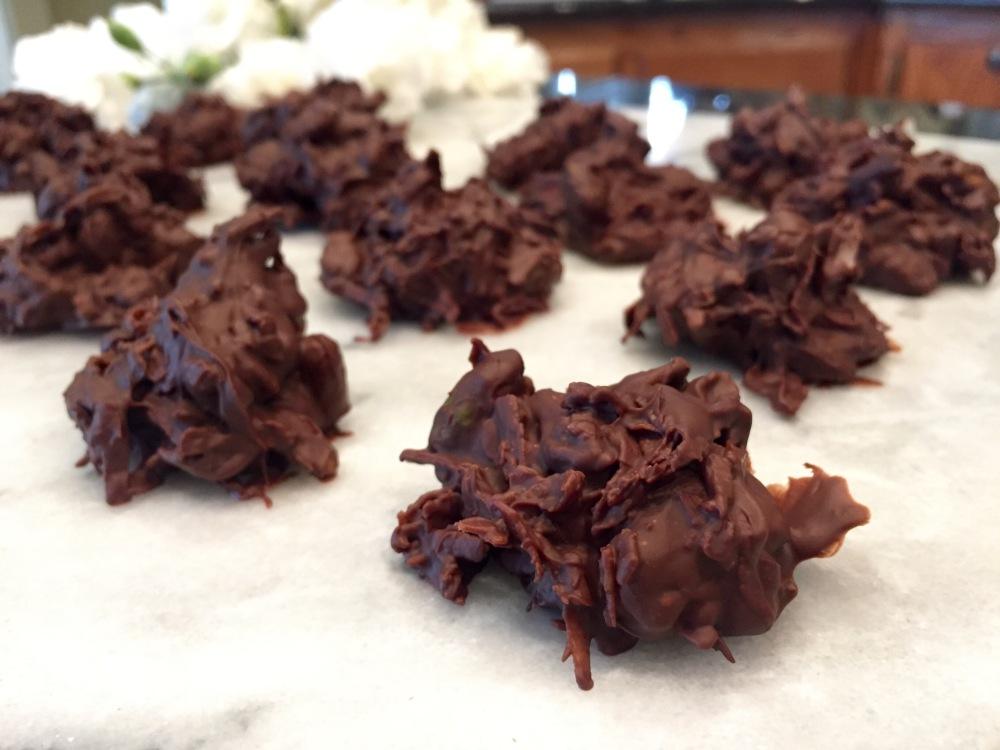 Coconut Pistachio Haystacks | The Rose Table