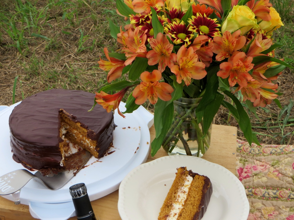 Better Homes and Gardens Pumpkin Sandwich Cake | The Rose Table