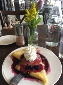 Lemon Blueberry Crepe   The Rose Table