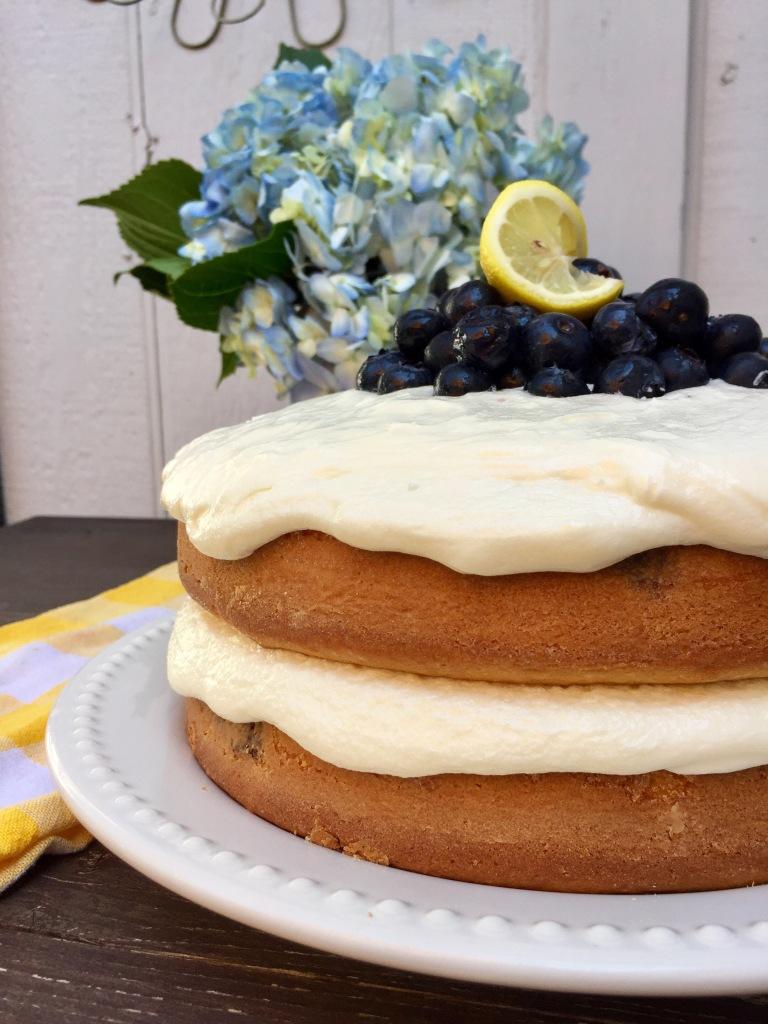 Lemon Blueberry Cake   The Rose Table