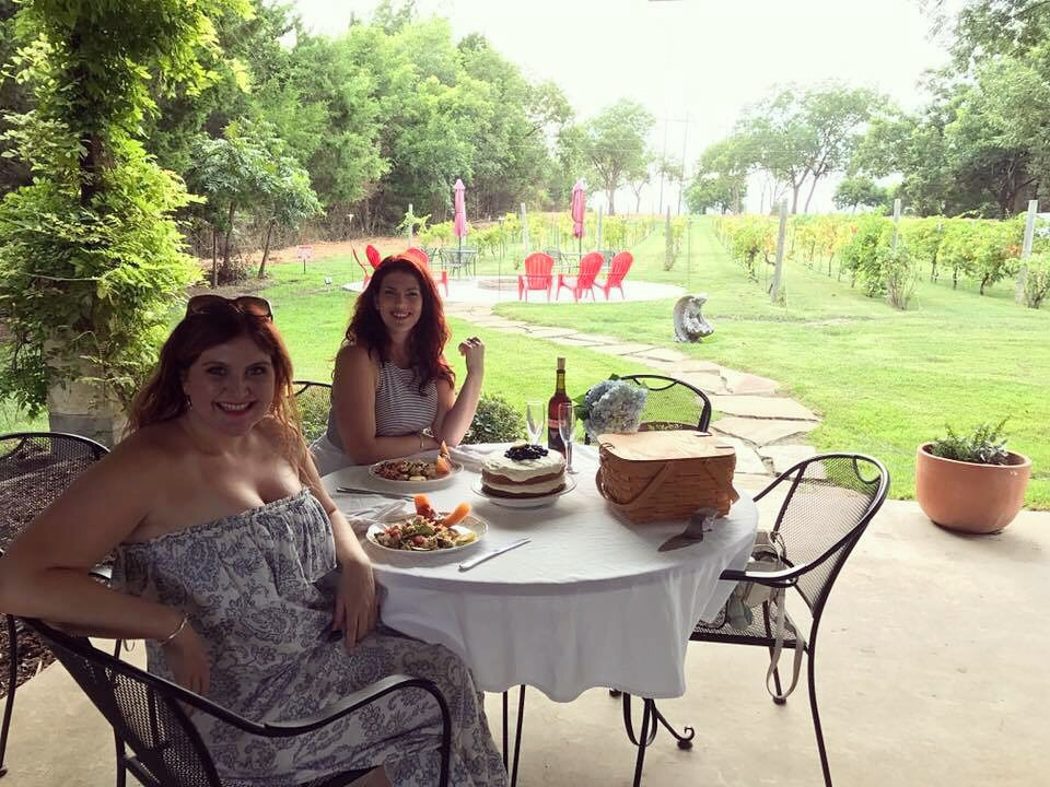 The Rose Table on a Vineyard Picnic