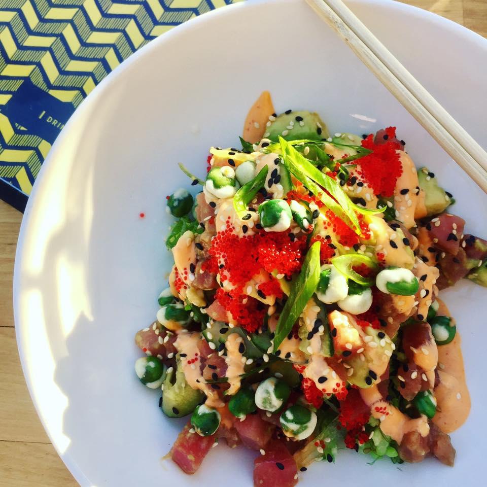 Tuna & Avocado SushiBowl at Standard Service, Rockwall Dining | The Rose Table