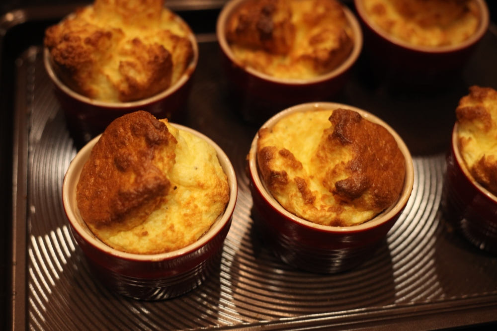 Mini Gruyere and Parmesan Cheese Soufflé – The Rose Table
